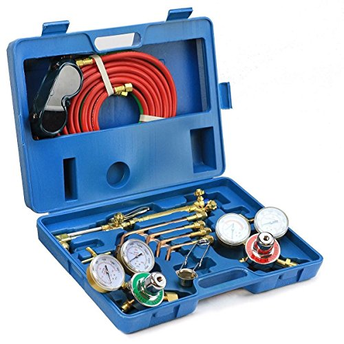 9TRADING Victor Type Gas Welding & Cutting Kit Oxygen Torch Acetylene Welder Tool With Case, Free Tax, Delivered within 10 days