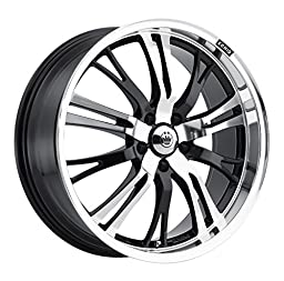 Konig Unknown Gloss Black Wheel with Mirror Machined Face (17x7\