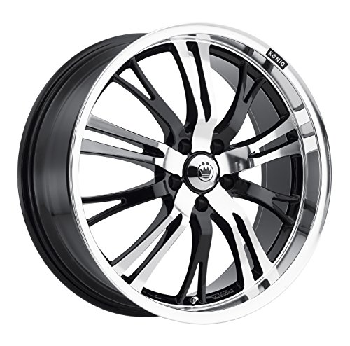 Konig Unknown Gloss Black Wheel with Mirror Machined Face (17x7