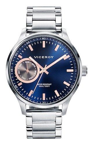 Viceroy Reloj Esqueleto para Hombre de Cuarzo con Correa en Acero Inoxidable 471057-37: Amazon.es: Relojes