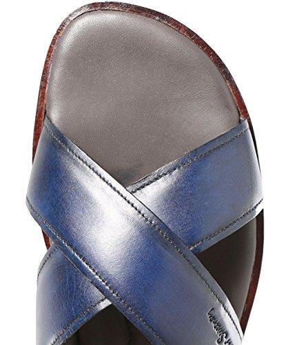 OLIVER SWEENEY Uomo Sandali di Cuoio di Vitello Whitestone Blu Marino Blu marino