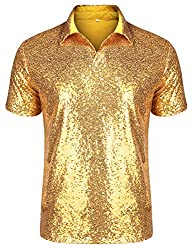 Short Sleeve Sequins Polo Shirt