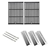 Repair Kit For Grill Pro Grill 226454 2009, 226464, 236454, 236464 BBQ Gas Grill Includes 3 Stainless Burners, 3 Stainless Heat Plates and Cast Cooking Grates