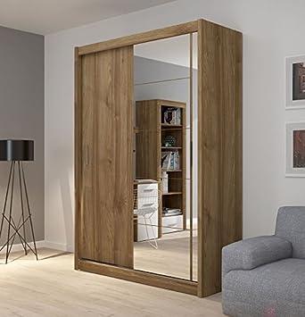 Kleiderschrank schiebetüren  Fado Spiegel Kleiderschrank mit 2 Schrank mit Schiebetüren Spiegel ...