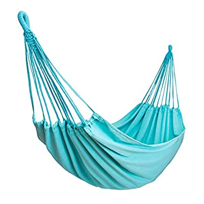 Stratr Brazilian Hammock - Double Hammock for Porch, Backyard, Indoor and Outdoors - Extremely Comfortable Woven Cotton Fabric (Turquoise)