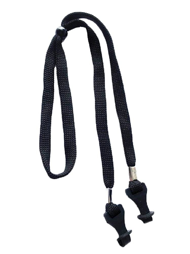 NEW Adjustable Black Sports Glasses Sunglasses Strap Cord Holder Rubber Keepers