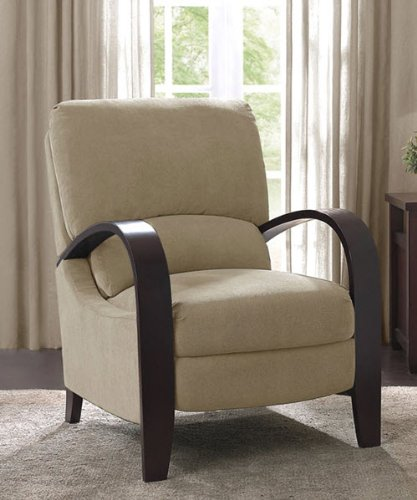 Microfiber Recliner Chair Bent Wood Armrest Reclining Armchair Backrest  Footrest Foot Support That Provides Comfort And