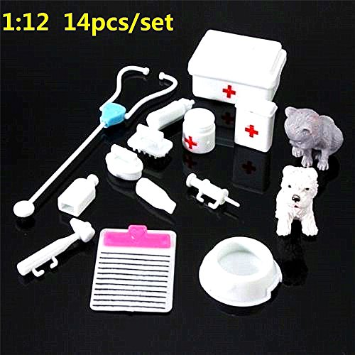 EatingBitiing(R)14Pcs Set Mini Medical Equipment Doll Toys For Dolls Bear Dollhouse Miniatures from EatingBiting(R)