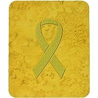 Carolines Treasures Yellow Ribbon for Sarcoma, Bone or Bladder Cancer Awareness Mouse Pad/Trivet (AN1203MP)