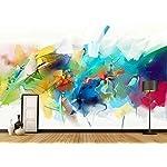 Carta Da Parati 3D Fotomurali Linee Astratte Dell'Acquerello Verde Camera da Letto Decorazione da Muro XXL Poster Design… 517GhatmQnL. SS150