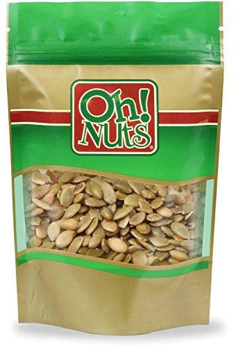 Pumpkin Seeds Roasted Salted, Pepitas Roasted Salted Great for Healthy Snacking or Salad Toppings No Shell - Oh! Nuts (2 LB Pumpkin Seeds)