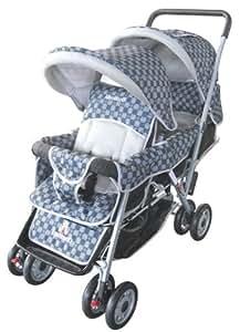 Amazon Com Amoroso Deluxe Double Baby Stroller Black