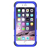 iPhone 6s Plus, iPhone 6 Plus Stand Case, HLCT Rugged Shock Proof Dual Layer Case with Built in Kickstand (Blue)