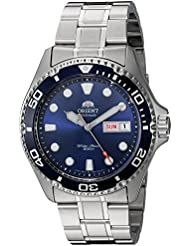 Orient Mens Ray II Japanese Automatic Stainless Steel Diving Watch, Color:Silver-Toned (Model: FAA02005D9)