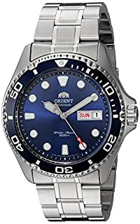 Orient Men's 'Ray II' Japanese Automatic Stainless Steel Diving Watch, Color:Silver-Toned (Model: FAA02005D9) (B01AK5TQE0) | Amazon Products