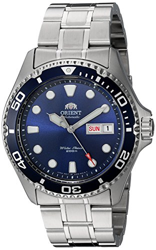 Orient Men's 'Ray II' Japanese Automatic Stainless Steel Diving Watch, Color:Silver-Toned (Model: - Blue Ray