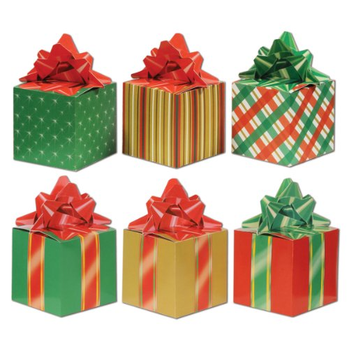 Beistle 3-Pack Christmas Party Favor Boxes, 3-1/4-Inch by - Christmas Box
