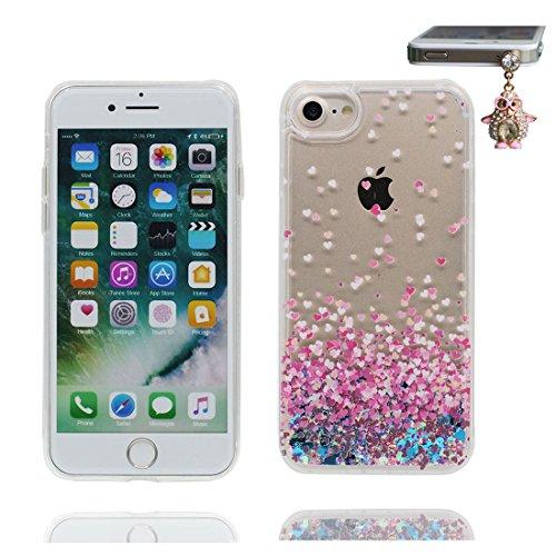 """iPhone 7 Plus Coque, Cover étui iPhone 7 Plus 5.5"""", Bling Glitter Fluide Liquide Sparkles Paillettes Flowing Brillante (Bling Bling), iPhone 7 Plus Case anti- chocs et Bouchon anti-poussière"""