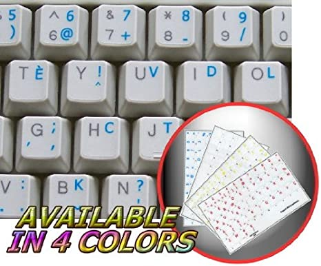 FRENCH BEPO KEYBOARD STICKERS BLUE LETTERING TRANSPARENT BACKGROUND FOR DESKTOP LAPTOP AND NOTEBOOK