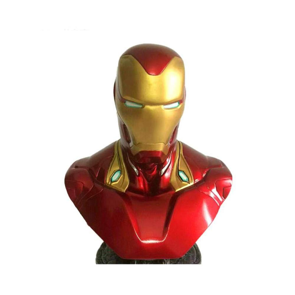 barato BJL Marvel súper Hero Iron Man Statue Statue Statue Avengers Series Heroes MK50 Acero Busto (18cm) Juguete De Escultura  promociones