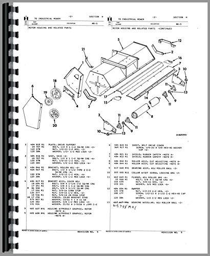Amazon com: International Harvester 1100 Mower Parts Manual