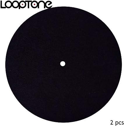 Tapete de fieltro antiestático para tocadiscos de LoopTone, 2 ...