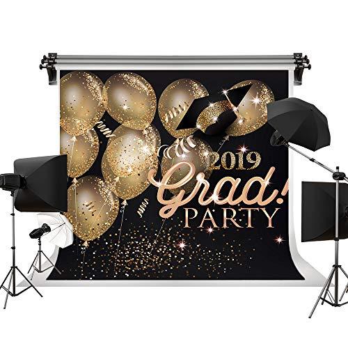 Kate 10x10ft/3x3m(W:3m H:3m) 2019 Graduation Ceremony Backdrop School Theme Backdrops Graduation Party Backgrounds Gold Bokeh Balloon Background -