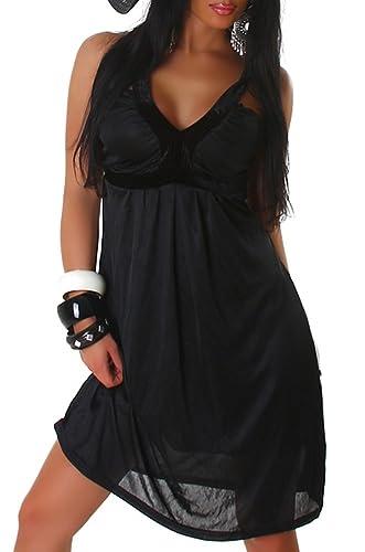 Vestito da cocktail con scollo a V mini vestito di un formato delle donne (38,40,42,44)