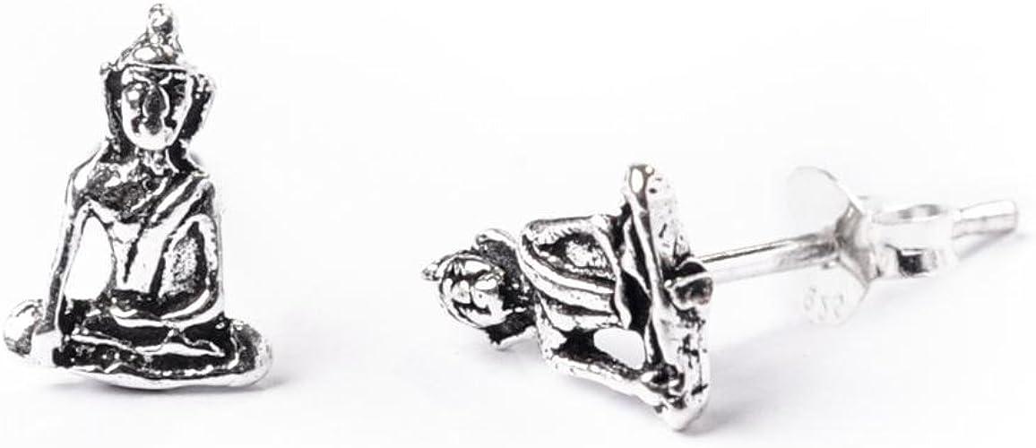 Bouddha boucles d/'oreille Argent Sterling 925 Meilleur Prix Spirit Bijoux Cadeau 9 mm