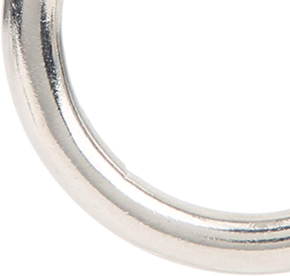 Alomejor 304 Stainless SteelCircular Door Buckle 6 8 mm with Ring for Fixed Sandbag Indoor Swing