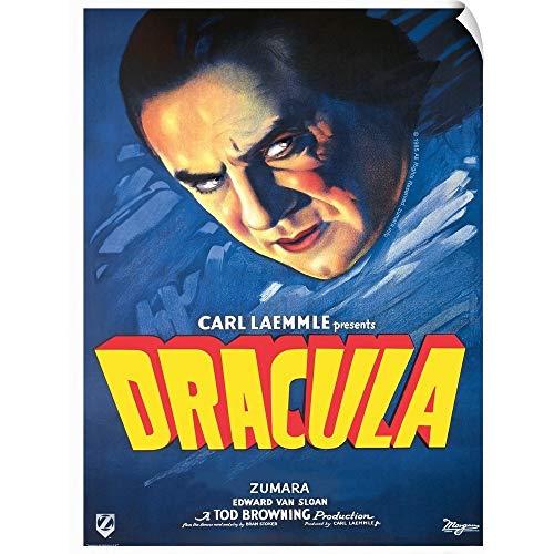 CANVAS ON DEMAND Dracula's Head Blue Wall Peel Art Print, - Dracula Head