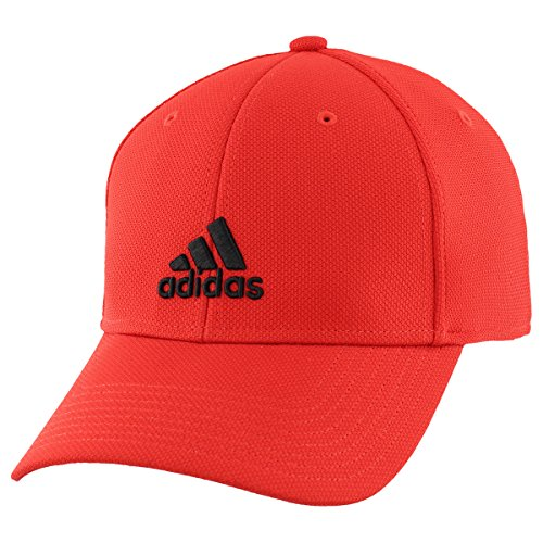 adidas Mens Rucker Stretch Fit Cap, Scarlet/Black, (Adidas Red Hat)