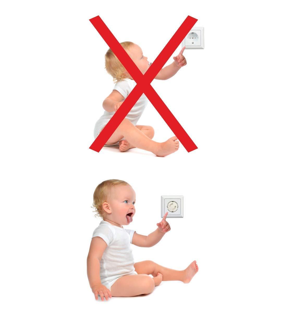 Canwn Steckdosensicherung Steckdosenschutz f/ür Baby und Kinder Kindersicherheit 07 Kindersicherung f/ür Steckdose mit Drehmechanik