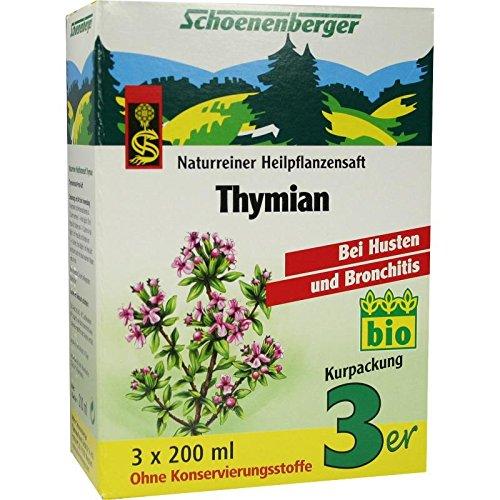 THYMIAN SAFT Schoenenberger Heilpflanzensäfte 600 ml Saft SALUS Pharma GmbH 02002495