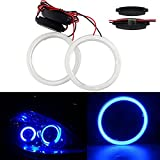 halo lights cars - GrandviewTM 1 Pair (2pcs) Car Light LED Chips 100MM 72SMD Angel Eyes Halo Ring Headlight Warning Lamps 12V with Shell-Blue