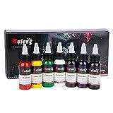 Solong Tattoo Professional 1 oz 7 Basic Colors Tattoo Ink Set Pigment Kit TI302-30-7