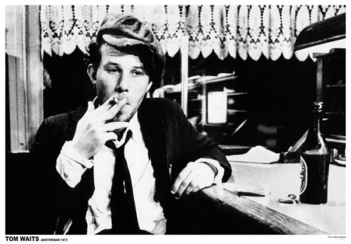 Tom Waits - Personality Poster/Print (Smoking in Amsterdam - 1976) (Size: 36 inches x 24 inches)
