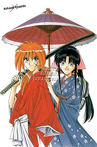(CGC Huge Poster - Rurouni Kenshin Anime Poster Meiji Swordsman Romantic Story Samurai X - ANI161 (24