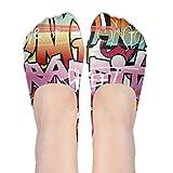 Graphic No Show Socks Women Graffiti Hip-hop Colorful Boat Shoe Boat Line Ankle Socks Women