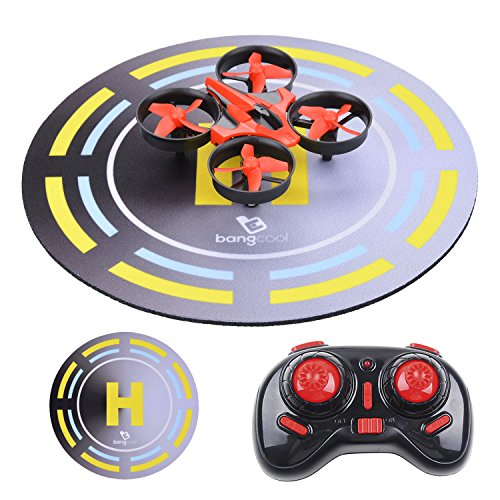 Bangcool Mini Quadcopter Drone, 5 Year Old Boy Gifts for Kid 2.4G 4CH 6 Axis Nano Remote Control UFO Helicopter with Landing Launch Pad, Headless Mode 3D Flip Toy for Beginner RTF 5 Year Old Boy Gifts ()