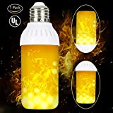 #2: Flame Bulbs Fire Upside Down, HogarTech LED Flickering Flame Effect Light Bulb E26 Base, UL Listed, Simulated Atmosphere Lighting for Bar/ Hotel/ Pathway/ Festival Decoration - Upgraded Lamp 1 Pack