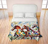 Duvet Cover Fleece Toddler, Twin, Queen, King from DiaNoche Designs by Karen Tarlton Home Decor and Bedding Ideas Unique Designer Decorative - Abstract Wild Horses