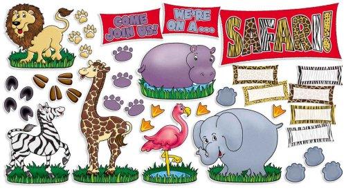 Scholastic Teacher's Friend Safari Animals! Bulletin Board (TF3115) by Scholastic