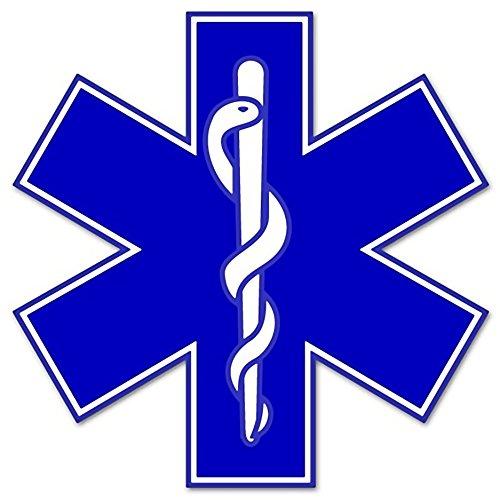 Rogue River Tactical EMS EMT Star of Life Sticker Decal Blue Medical Paramedic Ambulance (5