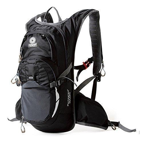 Eazeehome 20L Ultra Leicht Rucksack Fahrradrucksack Trekkingrucksack Wanderrucksäcke Wasserdicht für Klettern Camping Radfahren mit Sport Bandana (Schwarz)