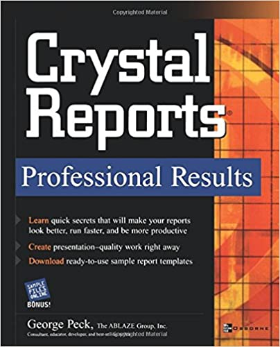 crystal reports professional results 9780072229516 computer
