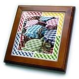 ft_12902_1 Susan Brown Designs General Themes - Canning Gingham - Framed Tiles - 8x8 Framed Tile