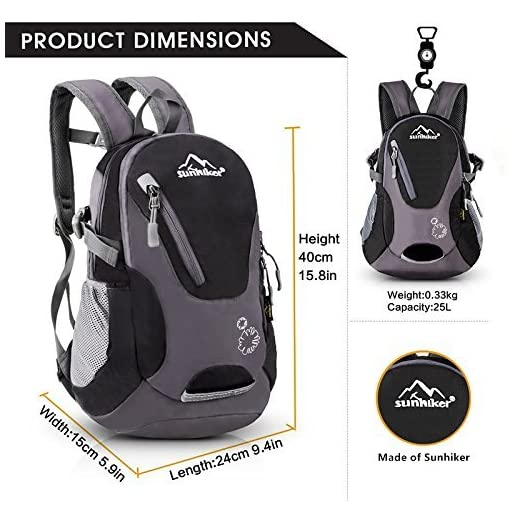 Details about  /Sunhiker Cycling Hiking Backpack Water Resistant Travel Backpack Lightweight