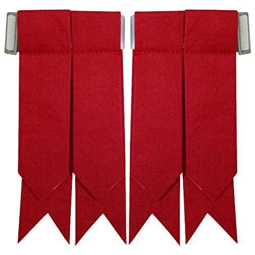 New Solid Plain Black, Royal Stewart Tartan Many More Kilt Flashes Multi Colors (Red)