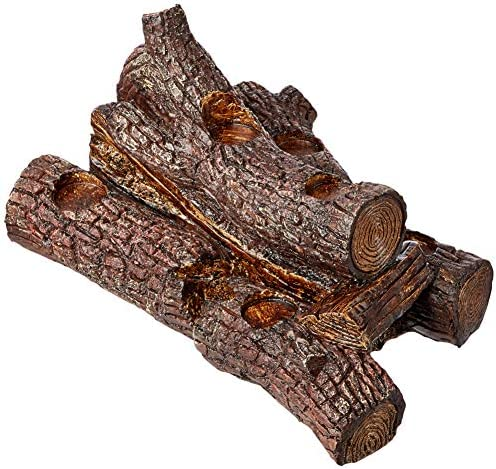 Plow Hearth 13941-OAK Logs Hearth Candle Holder